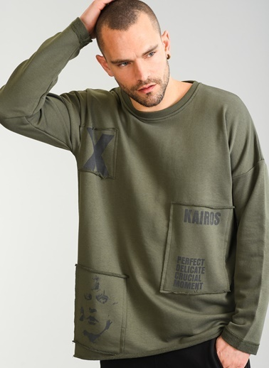 Baskılı Sweatshirt-People By Fabrika